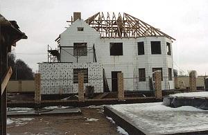 Строительство дома с несъемной опалубкой