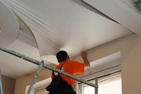 Тканевой подвесной потолок 1